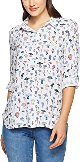 French Connection Women's Mushroom Printe Core Shirt