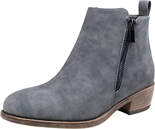 Women's Ankle Boots Thick Heel Low Heeled Bootie for Women