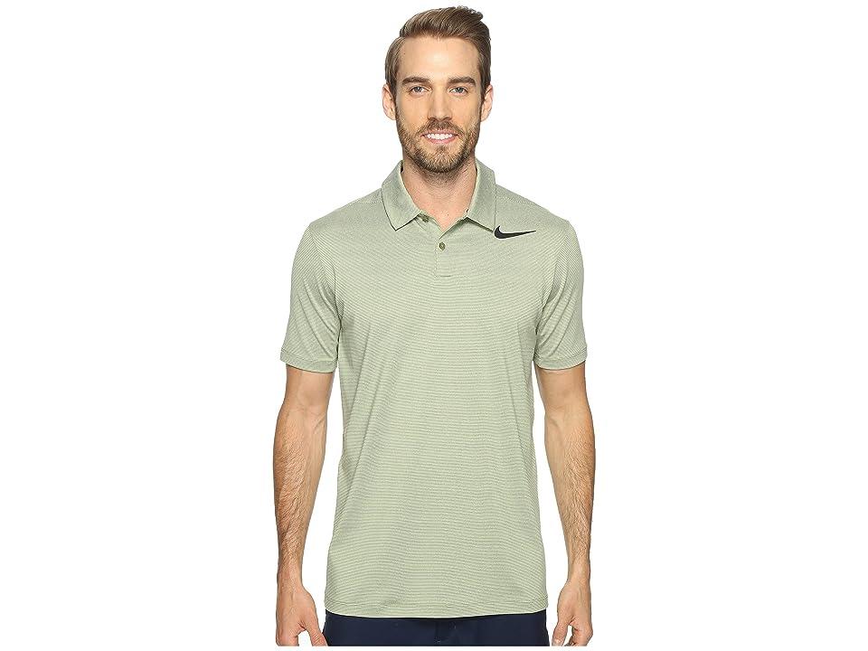 Nike Golf Mobility Control Stripe Polo (Palm Green/Black) Men