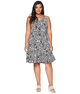 Plus Size Greer Printed Dress with Crocheted Back