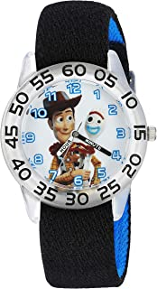 Disney Boys Toy Story 4 Analog-Quartz Watch with Nylon Strap, Black, 16 (Model: WDS000712)