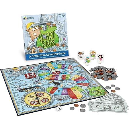 ラーニング リソーシズ アメリカ通貨すごろく マネーバッグ コインバリューゲーム LER5057