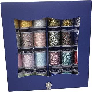 FUJIX フジックス スパークルラメ 紙箱セット 3本合 150m 24色 ミシン糸 手縫い糸