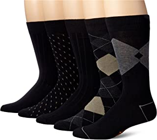 Men's Classics Dress Argyle Crew Socks, (Pack of 5)