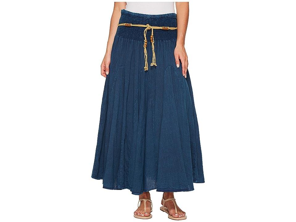 Scully Cantina Gar-Ye Skirt w/ Belt (Dark Blue) Women