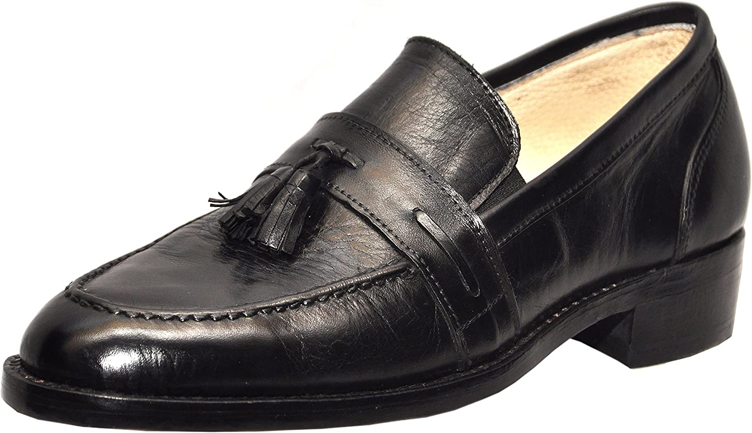 Johny Weber Handmade Black Leather Tassels Style Formal shoes shoes Goodyear Welted Construction