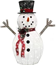 Outdoor Snowman Decorations Lighted