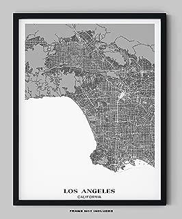 Los Angeles City Map Wall Art - 11x14