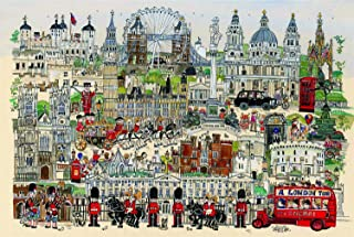 Jigsaw Puzzles 1000 Pieces for Adults for Kids-Freehand London,Every Piece is Made of wood,Large Unique Cut Interlocking p...