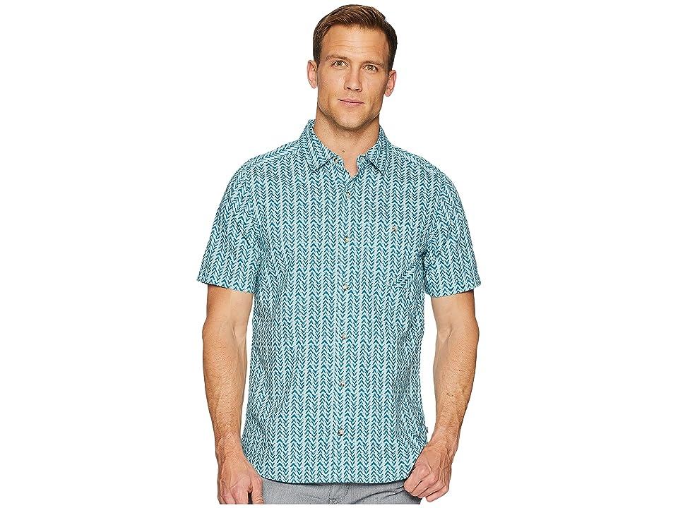 Toad&Co Fletch Print Short Sleeve Shirt (Arctic Birdseye Print) Men
