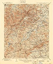 YellowMaps Pisgah NC topo map, 1:125000 Scale, 30 X 30 Minute, Historical, 1906, Updated 1946, 20.6 x 17 in