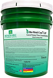 Renewable Lubricants Bio-Metal Cool General Purpose Cutting Oil, 5 Gallon Pail