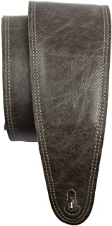 Perri's Leathers Ltd. - Guitar Strap - Leather - Padded - Vintage Brown - Adjustable - For Acoustic/Bass/Electric Guitars...