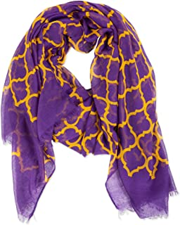 Tickled Pink Women's Vibrant Royal Lightweight Oblong Scarf