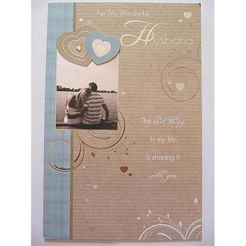 Birthday Cards For Husband Amazon Co Uk