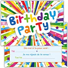 Amazon Fr Carte Invitation Anniversaire Enfant