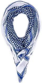 Mohavy Blue Unisex Premium Shemagh Keffiyeh | Men Women Head Scarf | Oversized Scarves | Tactical Desert Warp | Military Gear Summar Winter Bandana |