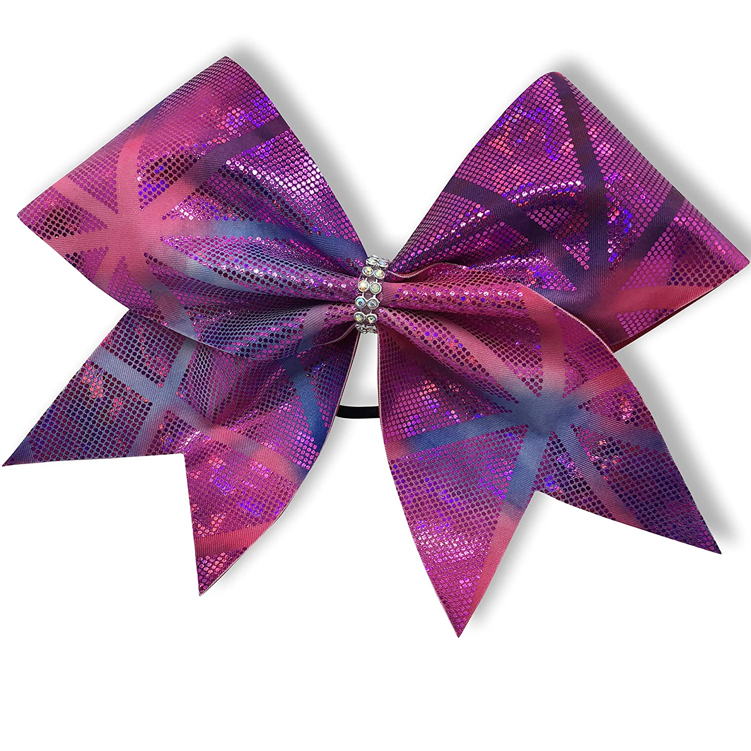 BlingNBoutique Pink and Purple - Geo Cheer Popular brand in the world 2021 spring and summer new Bow