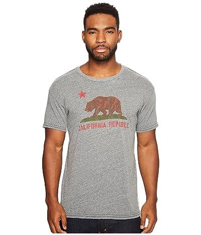 The Original Retro Brand Vintage California Republic Short Sleeve Tri-Blend T-Shirt (Streaky Grey) Men