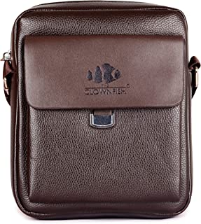 The Clownfish Polo series Cedar Brown  Unisex Sling Bag for Travel (TCFSLFL-YXCDR2)