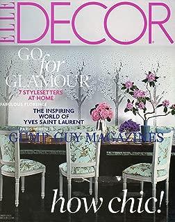 Elle Decor October 2008 How Chic, Go for Glamour, The Inspiring World of Yves Saint Laurent (No. 150)