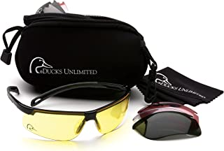 Ducks Unlimited Shooting Eyewear Kit with 5 Interchangeable Lenses and Protective Case