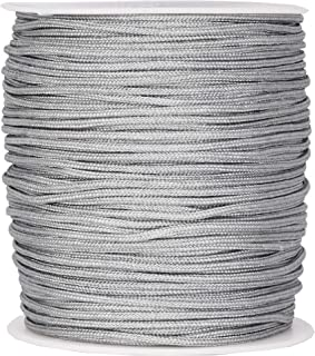 Mandala Crafts Blinds String, Lift Cord Replacement from Braided Nylon for RVs, Windows, Shades, and Rollers (2mm, Gray)