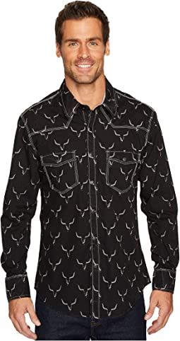 Rock and Roll Cowboy - Long Sleeve Snap B2S4122