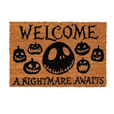 Merchandiseonline Nightmare Before Christmas - Door/Floor Mat (Size: 24  x 16 ) (Doormat) (A Nightmare Awaits)