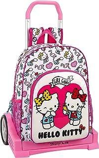 comprar comparacion Hello Kitty Mochila con Carro Ruedas Evolution, Trolley, Rosa, 42 cm