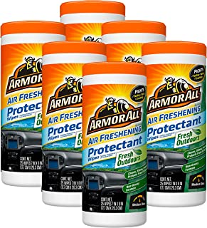 Armor All Air Freshening Protectant Wipes, Fresh Outdoors, 25 ct, Case of 6
