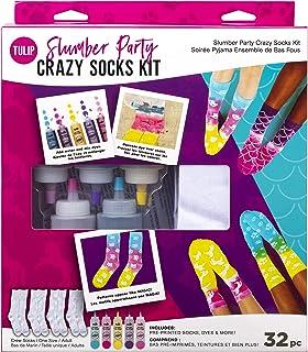 Tulip One-Step Tie-Dye Kit Slumber Crazy Kit, 4 Pairs of Socks, Supplies, Party Favors, 5 Bright Tie Dye Colors