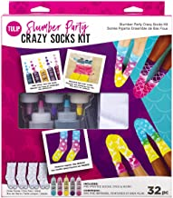 Tulip One-Step Tie-Dye Kit 43195 Slumber Crazy Kit, 4 Pairs of Socks, Supplies, Party Favors, 5 Bright Tie Dye Colors