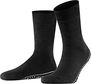 FALKE Men's Homepads Slipper Sock Cotton Merino Wool Black Grey More Colours Thick Warm Cushioned Home Calf Sock For Indoo...