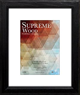 Timeless Frames 12x16 Inch Fits 9x12 Inch Photo Supreme Solid Wood Wall Frame, Black