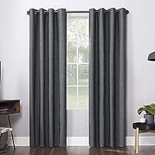 Sun Zero Ruben Dimensional Thermal Extreme 100% Blackout Grommet Curtain Panel, 52