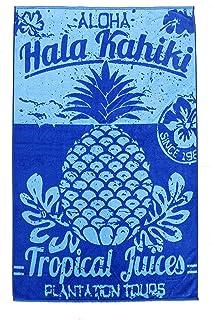 comprar comparacion DHestia. Toalla de Playa Grande de Algodón 100x170 cm. Diseño Original Piña Hakiki