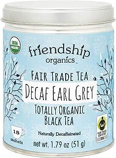 Friendship Organics Decaf Earl Grey, Totally Organic and Fair Trade Decaffeinated Black Tea in Tagless Tea Bags (18 count)