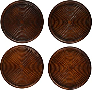 Lipper International 233 Cherry Finish Coasters, Set of 4