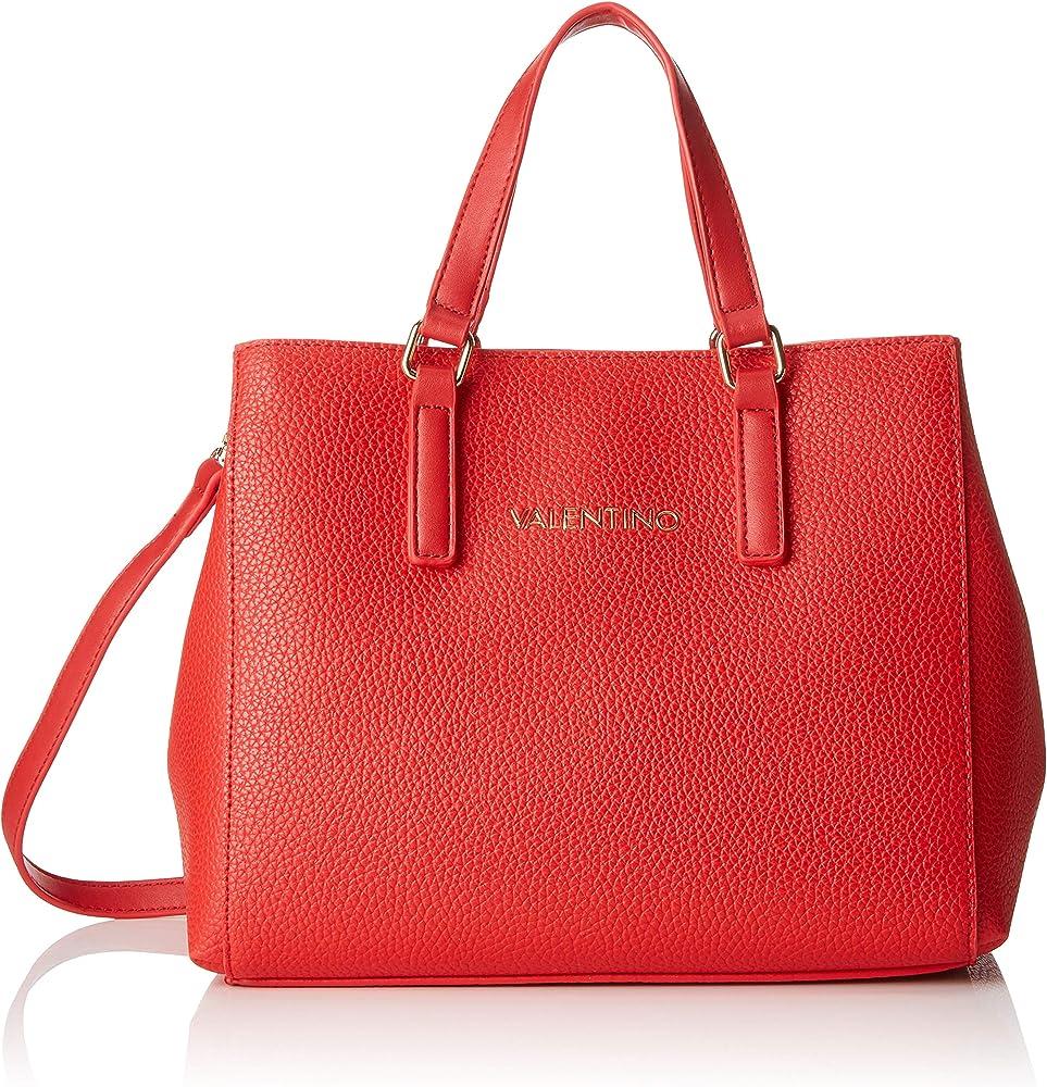 Mario valentino, borsa a mano da donna, in pelle sintetica, rossa VBS2U803A