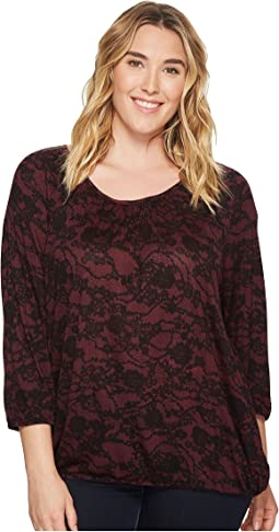 MICHAEL Michael Kors - Plus Size Lace Scoop Neck Peasant Top
