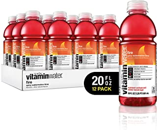 vitaminwater Electrolyte Enhanced Water with Vitamins, Fire Spicy Watermelon-Lime, 20 Fluid Ounce (Pack of 12)