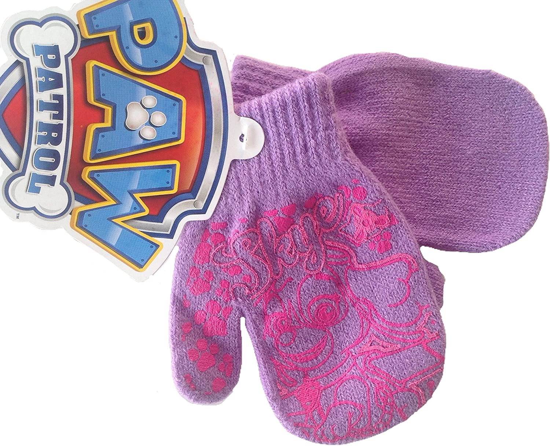 Nickelodeon Paw Patrol Girls SKYE Knit Winter Mittens