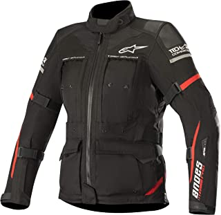 Stella Women's Andes Pro Drystar Waterproof Touring Motorcycle Jacket for Tech-Air Street Airbag System (Small, Black Red)