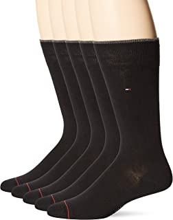 mens 5 Pack Allover Flag Pattern Dress Crew Socks