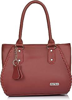 Fostelo Women's Cannes Handbag (Maroon) (FSB-1228)