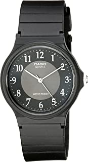 Casio Men's MQ24-1B3 Watch with Black Rubber Band