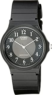 Men's MQ24-1B3 Watch with Black Rubber Band