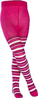 FALKE Strumpfhose Mixed Stripe Baumwolle Kinder blau schwarz viele weitere Farben verstärkte Kinderstrumpfhose mit Muster blickdicht Baumwollstrumpfhose bunt mit Streifen 1 Stück