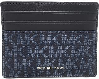 Michael Kors Men's Cooper Tall Card Case Wallet (Admiral Blue)